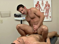 Pretty doctor gets nailed by his gay patie