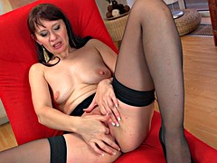 Legs spread wide open for black cock