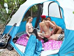 Жесткий секс в лагере