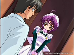 Hentai teens love to serve the master in this anime video