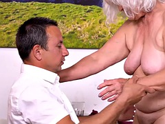 MATURE4K. The old man cant satisfy the wife, so she moves in with the handsome waiter