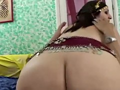 Indian bbw bitch sucks a cock and gets pussy creamed