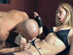 Jennifer shemale sucks cock and gets fucked anally