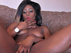 British ebony amateur does anal in casting