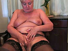 British grannies want you to watch them as they masturbate