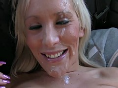 Blonde amateur anal babe fucked by taxi false