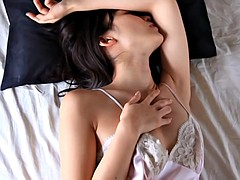 Stuffed pink satin sexy model in a japanese solo