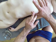 Pov close-up of a sensual relaxing full body massage