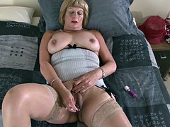 Dirty granny with wet vagina thirsty