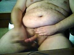 uomo grasso con un grosso pene