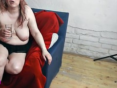 Bbw milf gets cum on her big boobs