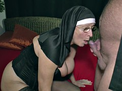 German granny milf making casting porn for money for the church
