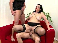Bigtit mature mother seduced by two son