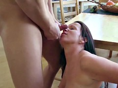 He caught the german step-mom naked and get to fuck her first