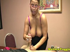 MILF teacher in the office strip bigtitted