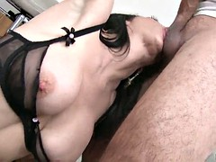 a messy facial for veronica avluv after sucking a guy in pov