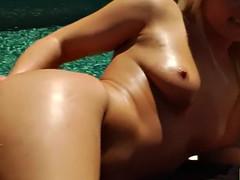lesbian blondes toy ass