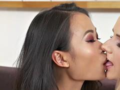 busty asian lesbian milf finger fucking