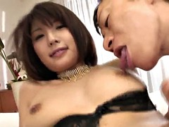 Busty azumi harusaki works cock like a real goddess