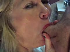 mature blond blowjob