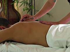 tranny tori mayes massages hunk guy and gets fucked her tight ass