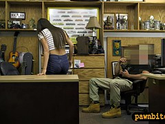 lovely babe fucked by horny pawn keeper