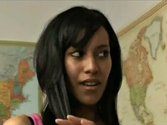 Ebony δασκάλα φοιτητής πορνό