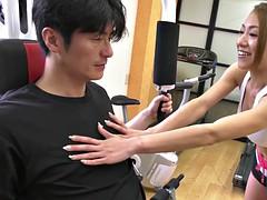 hot asian babe at the gym, japanese jav