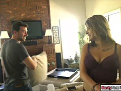 busty babe sarah bella fucked after her blind date