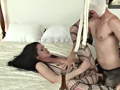 hot trans babe throats and analed reamed by big cock