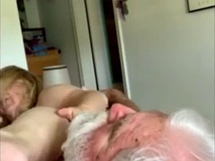 granny plants her pussy on lucky lovers face