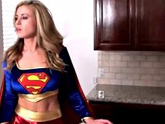 Superheroine undressed