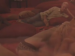 swinger couple is having sex while taking a hot shower!