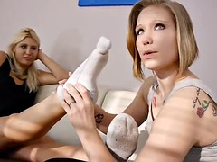 German Lesbians Worshipping Each Other's Feet