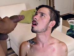 Gay amateur riding black dick