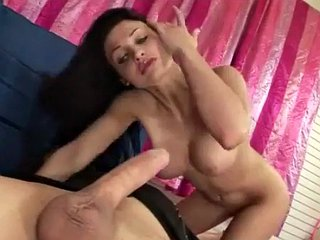 Sexy babe sits on a guys face and strokes his cock - Aletta Ocean