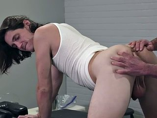 Athletic ass gets fisted by a dilf before bareback sex