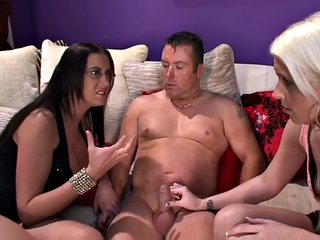 Tiny cock dominas teases and jerks off humiliating