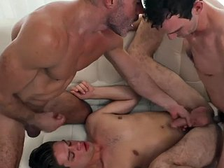 Athletic butt bred in the taboo trio until they took facials
