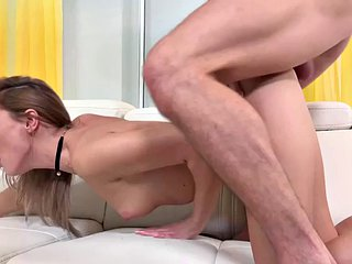 Anal girlfriend ass played and fucked in the ass in a dirty duo