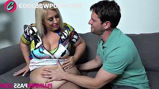 Blonde bbw mommy fucking