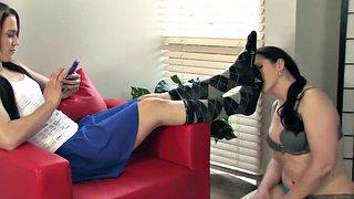Socken Lesbische Fußfetisch LadyCinderella