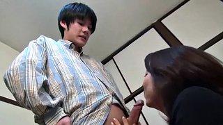 Vintage Japanisch Mutter Sohn