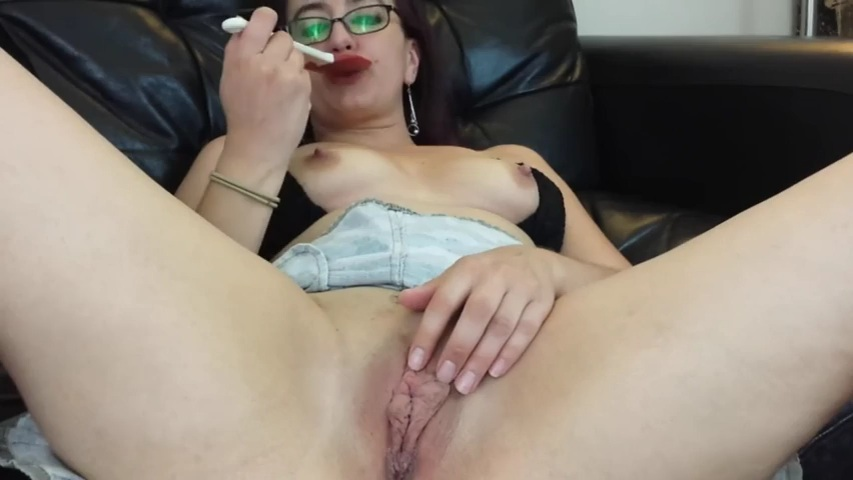 Spanking My Meaty Deepthroat And Clitoris 1