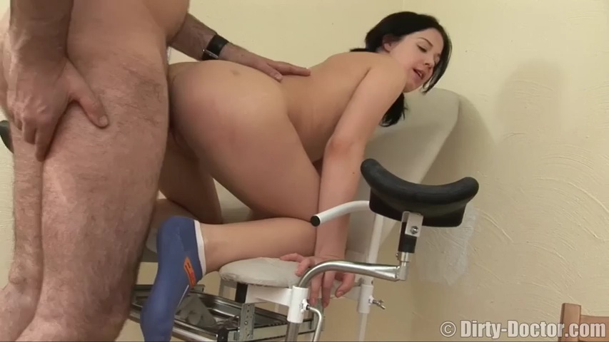 Real czech patient fucked by doctor on exam table